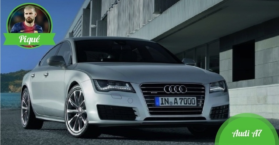 Piqué, zagueiro da Espanha - Carro: Audi A7