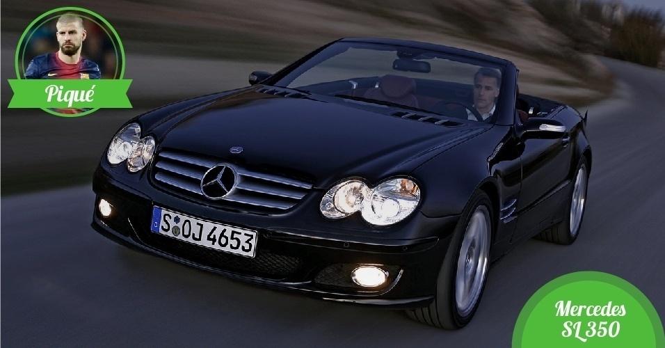 Piqué, zagueiro da Espanha - Carro: Mercedes SL350