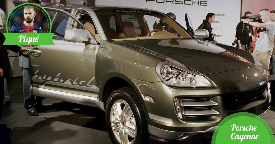 Piqué, zagueiro da Espanha - Carro: Porsche Cayenne