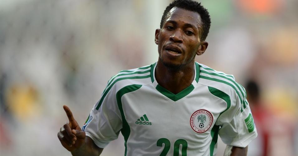 17.06.2013 - Oduamadi celebra um dos gols da Nigéria contra o Taiti na estreia da Copa das Confederações