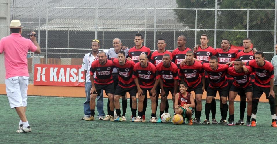 Tradicional foto pré-jogo do Flamengo da Vila Maria