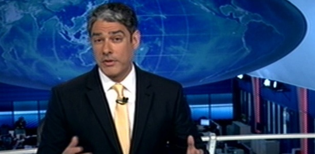 William Bonner explica por que voltou ao estúdio do Jornal Nacional