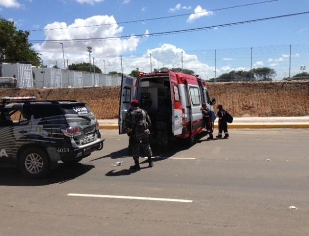 Ferido em protesto no Castelão é atendido pelo Samu em Fortaleza