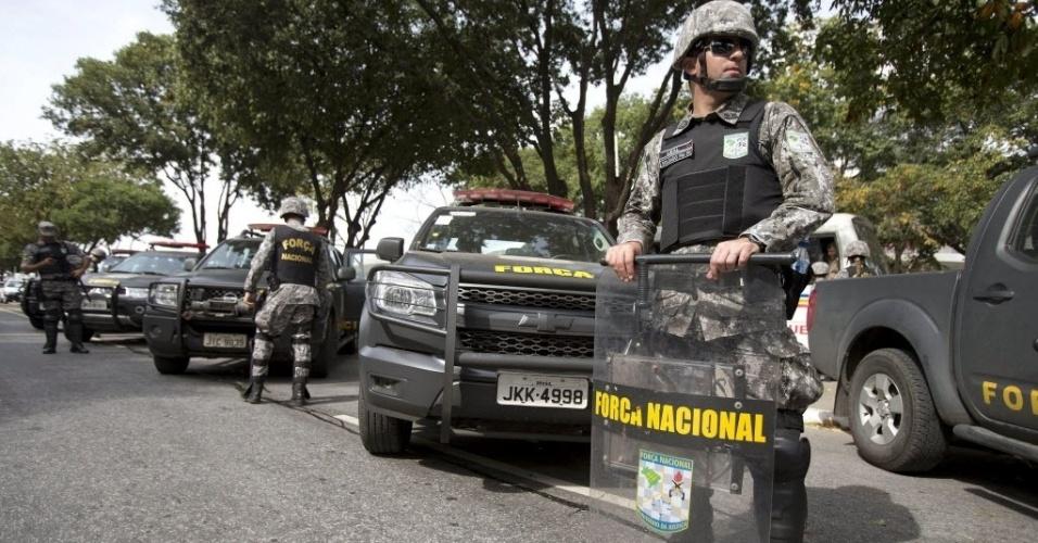Força Nacional foi acionada para fazer a segurança no Mineirão