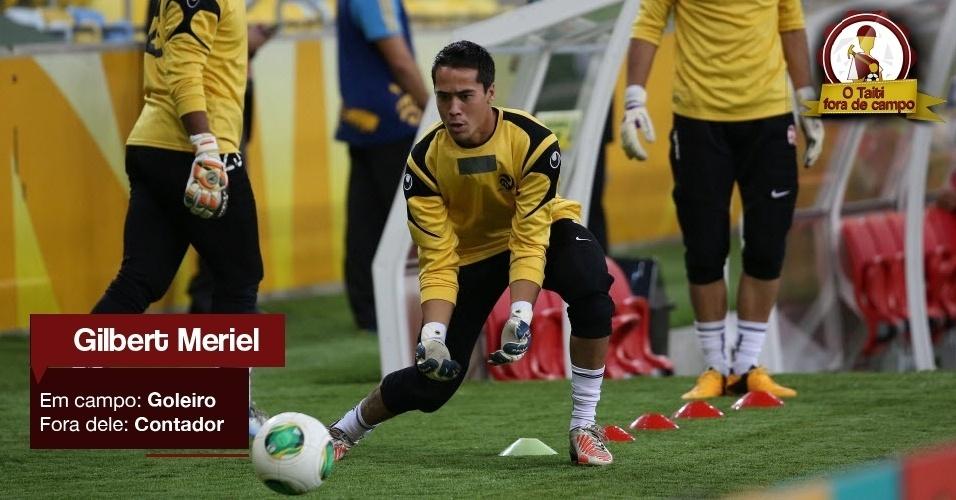 Gilbert Meriel - Em campo: Goleiro - Fora dele: Contador