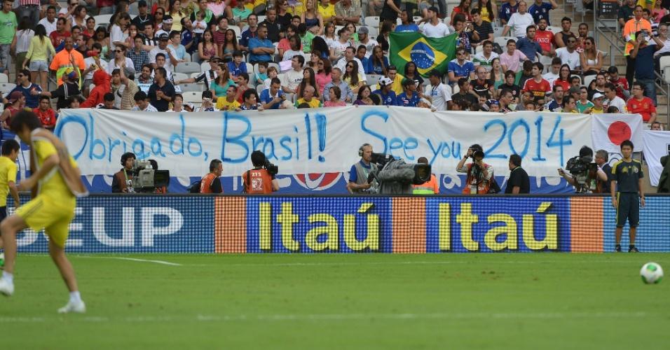 Torcedores do Japão agradecem a hospitalidade dos brasileiros