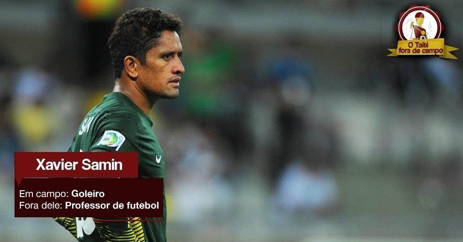 Xavier Samin - Em campo: Goleiro - Fora dele: Professor de futebol
