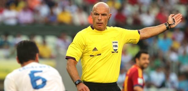 Webb durante a semifinal da Copa das Confederações entre Espanha e Itália