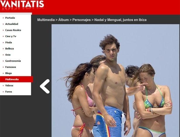 28.jun.2013 - Site espanhol Vanitatis mostra o tenista Rafael Nadal durante passeio de iate em Ibiza, na Espanha