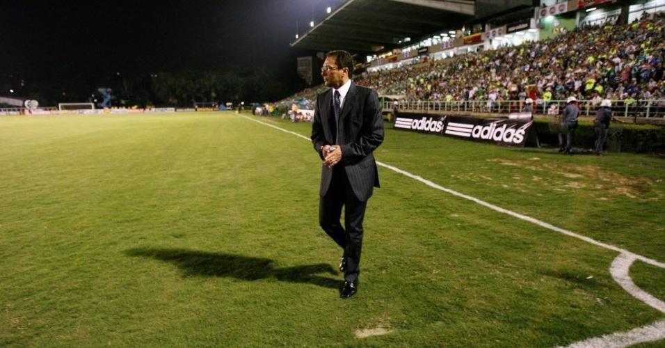 Vanderlei Luxemburgo, técnico do Palmeiras, em 2008