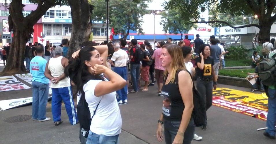 Início da movimentação na praça Saens Peña, no Rio de Janeiro