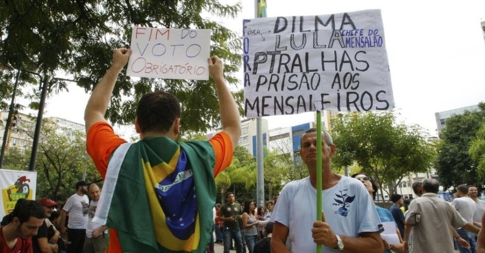 Manifestação e passeata da praça Saens Peña até o Maracanã, na final da Copa das Confederações