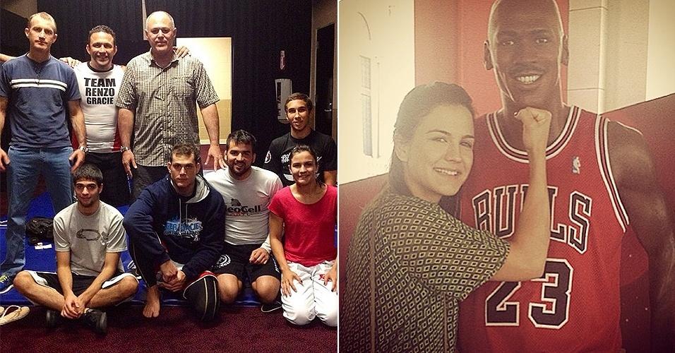 Kyra Gracie treina com primo Roger e brinca com Jordan antes de comentar UFC 162 em Las Vegas