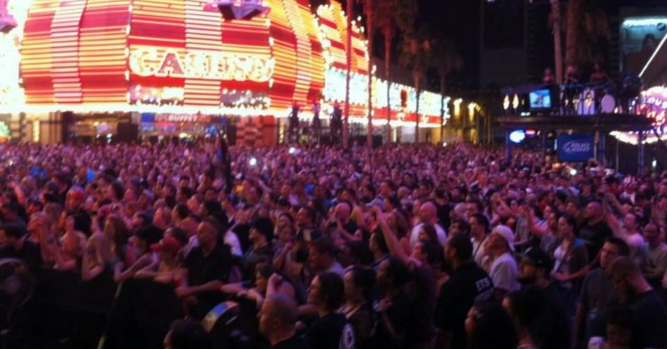 04.jul.2013 - Festa do UFC no feriado da Independência dos EUA contou com shows em Las Vegas