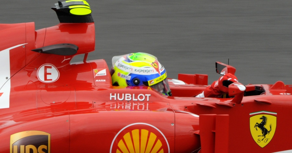 05.jul.2013 - Brasileiro Felipe Massa participa de primeiro treino livre para o Grande Prêmio da Alemanha