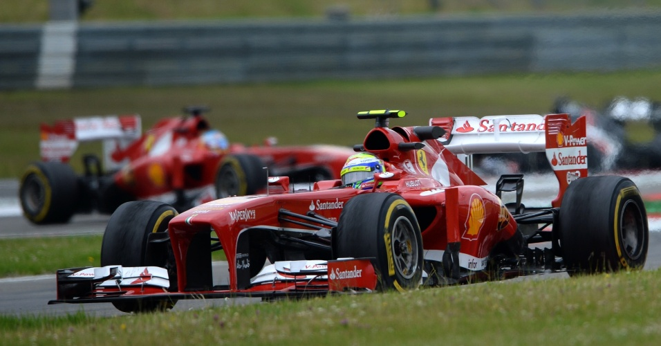 05.jul.2013 - Brasileiro Felipe Massa termina segundo treino livre na sétima colocação