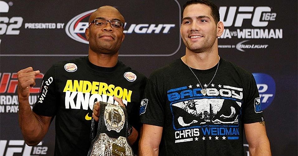 Anderson Silva e Chris Weidman disputam o cinturão dos médios neste sábado