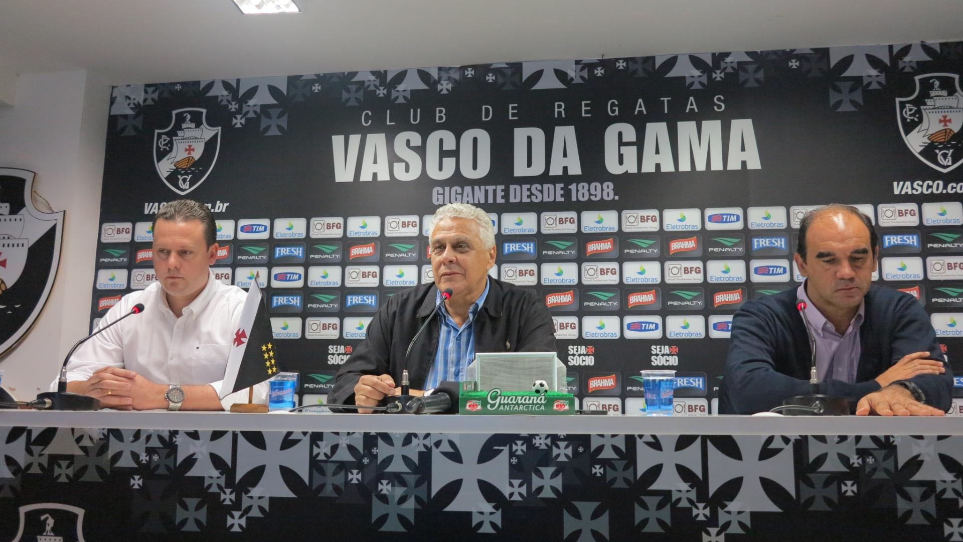 Diretoria do Vasco concede entrevista coletiva para falar sobre a saída do técnico Paulo Autuori (09/07/2013)
