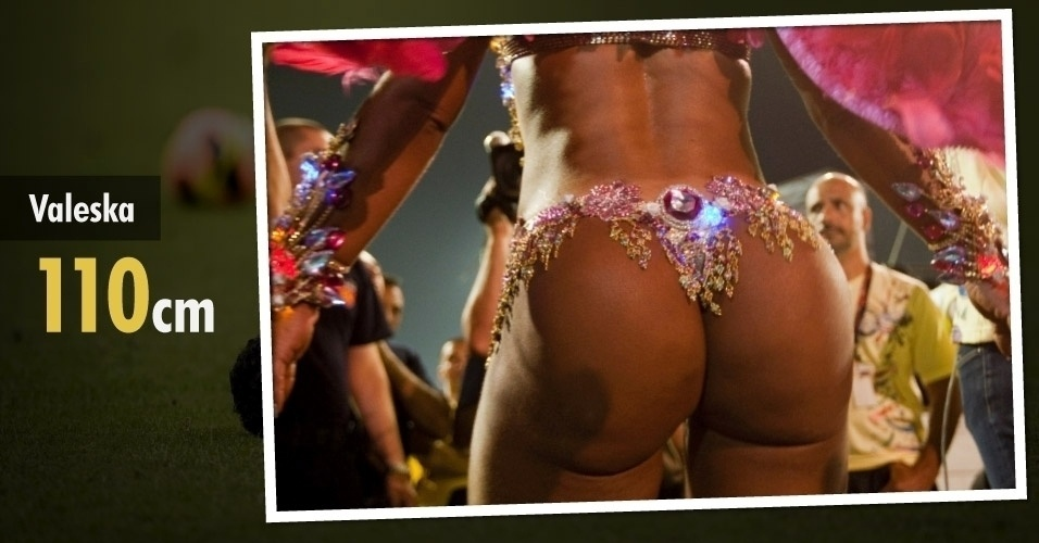 Funkeira mais famosa do Brasil, Valeska Popozuda tem 110 cm de bumbum