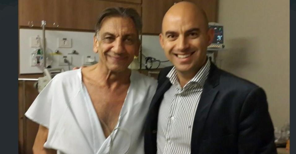 Osmar de Oliveira demonstra recuperação após infarto