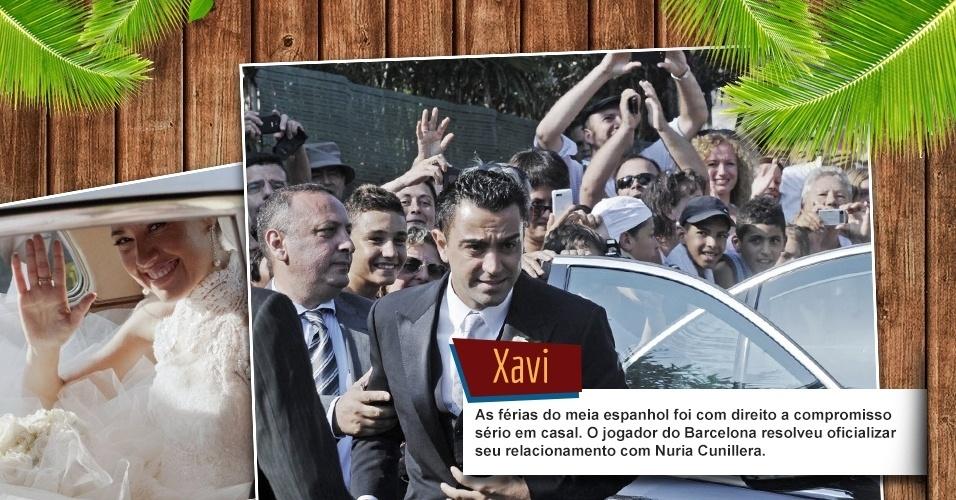 As férias do meia espanhol foi com direito a compromisso sério em casal. O jogador do Barcelona resolveu oficializar seu relacionamento com Nuria Cunillera.