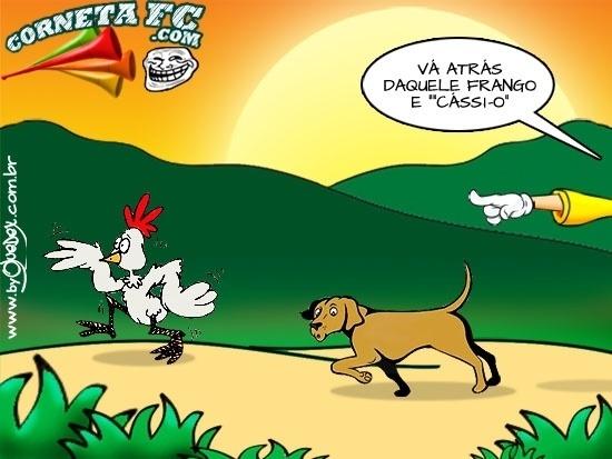 Cássio treina cachorro para caçar frangos