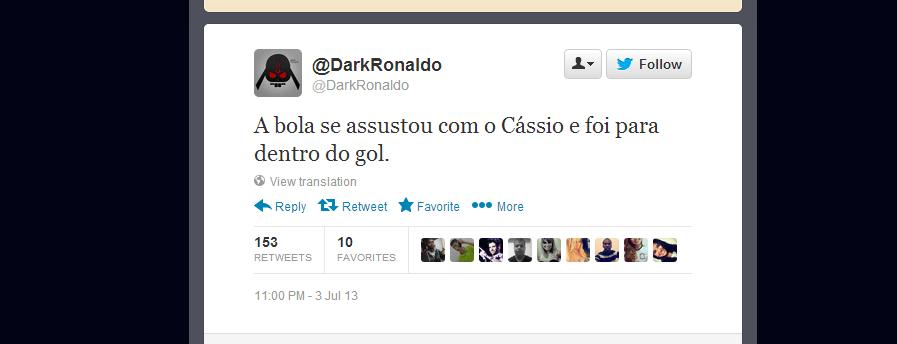 Cassio vira alvo de piadas no Twitter após falha no clássico