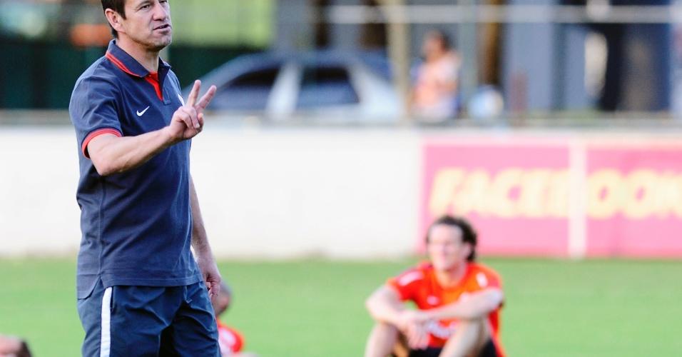 Técnico Dunga comanda treino do Inter no CT do Flamengo na Gávea no Rio de Janeiro (15/07/2013)
