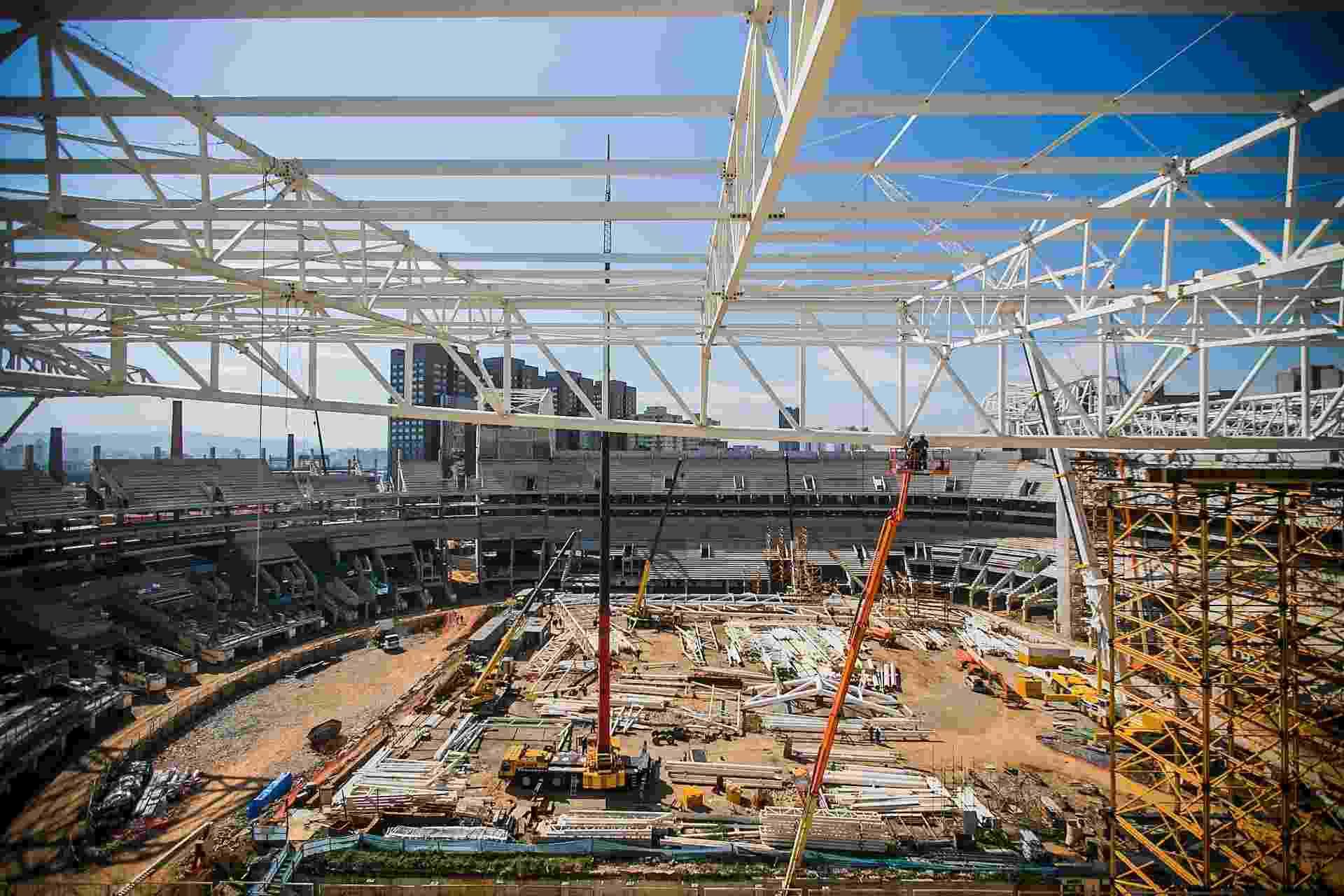 17.07.2013 - Foto da vista da cabine de imprensa, o ponto mais alto do estádio - Leonardo Soares (UOL)