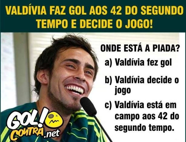 Corneta FC: Valdivia em campo é sinônimo de piada