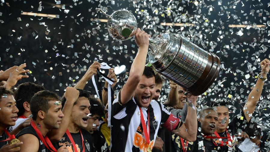Réver foi o capitão do Galo e jogador da confiança de Cuca na campanha do título alvinegro na Copa Libertadores de 2013 - AFP PHOTO / VANDERLEI ALMEIDA