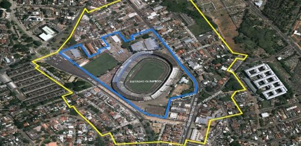 Imagem mostra projeto de implosão do Olímpico; Grêmio não implodiu e gastou R$ 200 mil para Copa