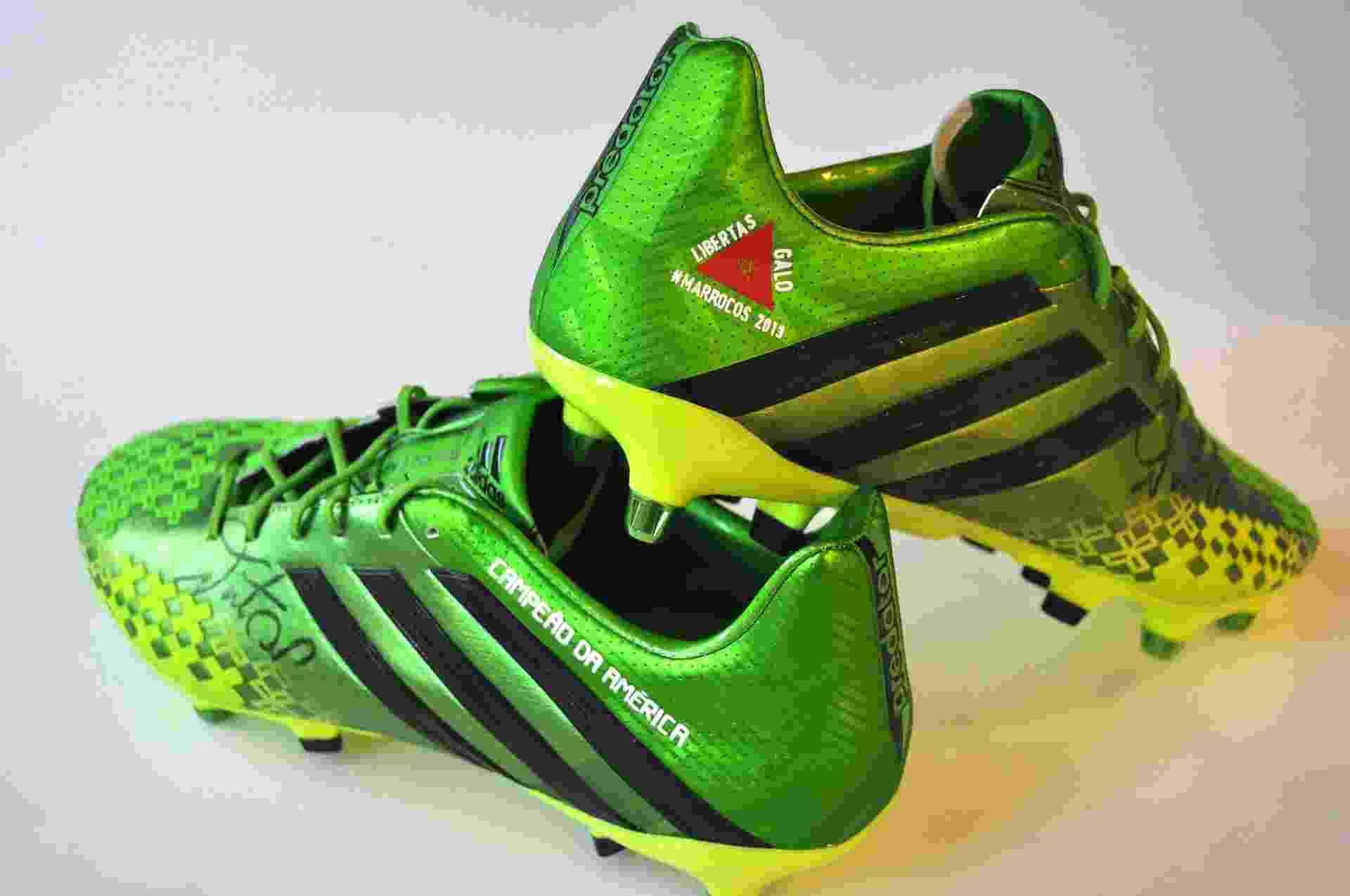 48377e494e Fotos  Jogadores do Atlético-MG exibem chuteiras personalizadas após ...