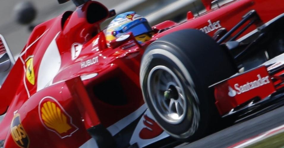 Fernando Alonso fez na sexta o quarto melhor tempo nos treinos livres