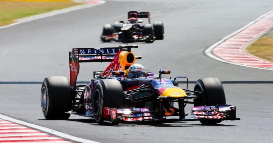 Líder do campeonato, Sebastian Vettel havia feito na sexta-feira o melhor tempo nos treinos livres