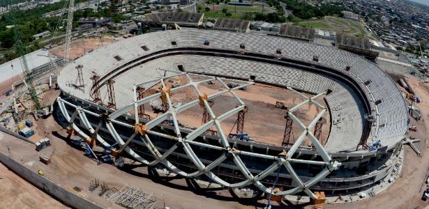 Estádio tem custo previsto de R$ 604 milhões; maior renda no Estado no ano foi R$ 27.900