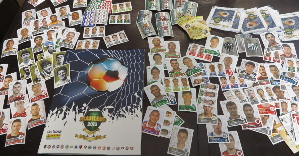 Álbum do Brasileirão tem 504 figurinhas, distribuídos por 40 clubes das séries A e B