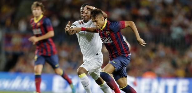 Barcelona goleou o Santos por 8 a 0 em amistoso disputado em 2013, no Camp Nou