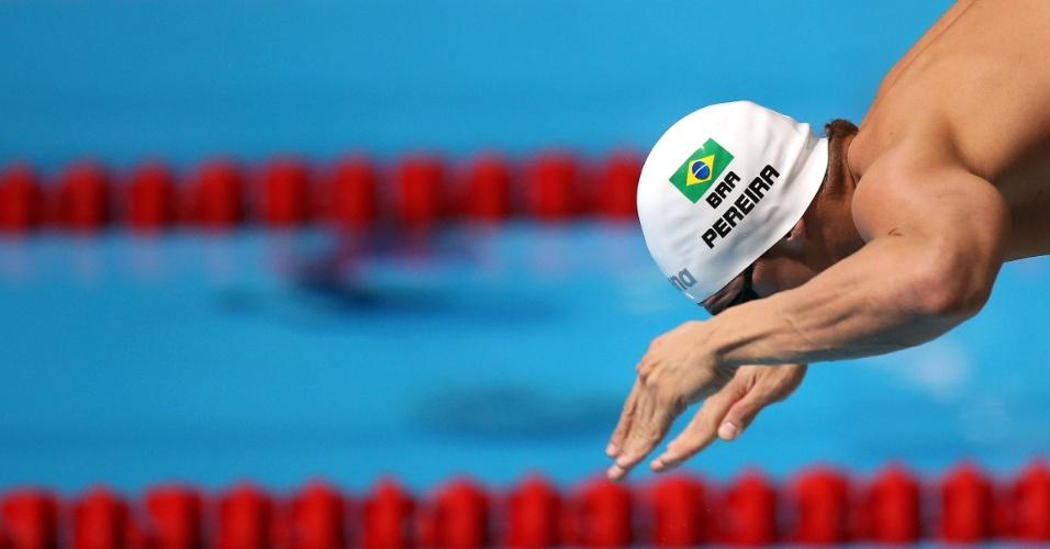 04.ago.2013 - Thiago Pereira conquistou a medalha de bronze nos 400 m medley