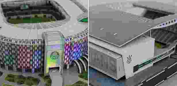 Curiosidade por novos estádios de Palmeiras e Corinthians aquece vendas de miniaturas - Reinaldo Canato/UOL