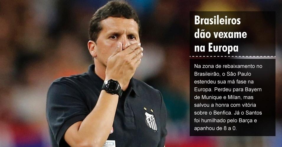 Brasileiros dão vexame na Europa