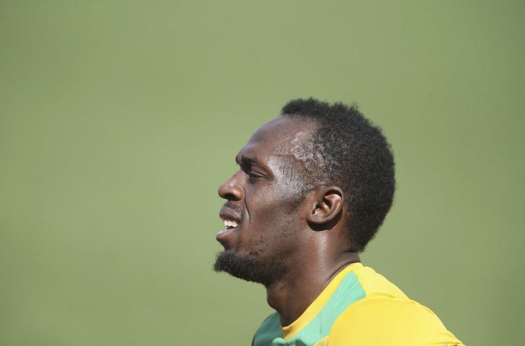 09.08.2013 - Usain Bolt participa de treinamento antes do Mundial de Atletismo, em Moscou