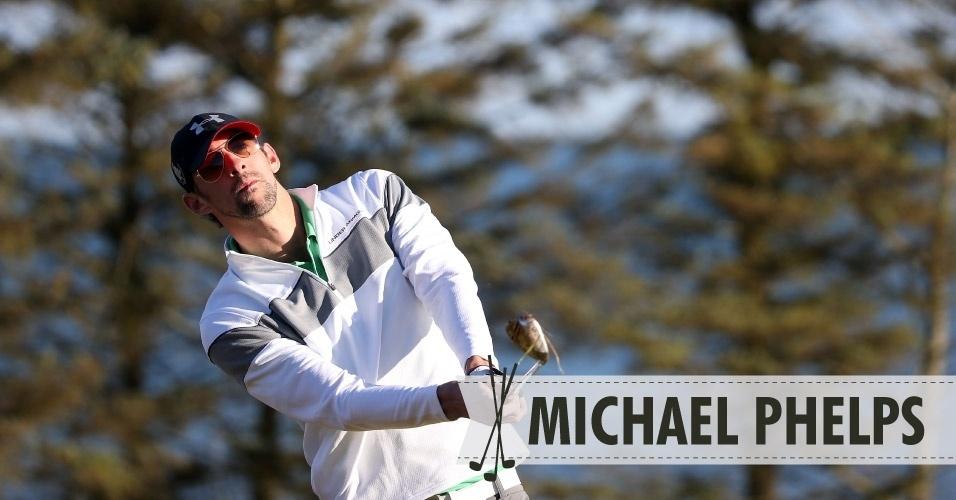 09ago2013- Michael Phelps golfe
