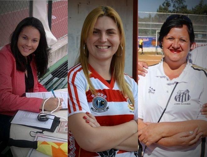 Mulheres da várzea: Dayane Tavares, Bruna Moreno e Isabel Varotto