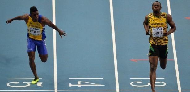 Usain Bolt sobra e vence com tranquilidade a sétima bateria das eliminatórias nos 100 m  - AFP PHOTO / ANTONIN THUILLIER