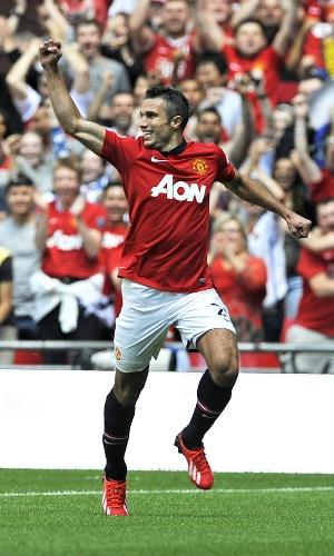 11.08.2013 - Robin Van Persie foi o destaque da vitória do Manchester United