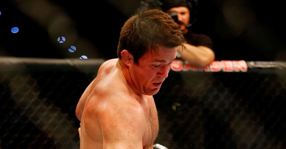 Chael Sonnen castiga Shogun com uma série de socos após ficar por cima na luta