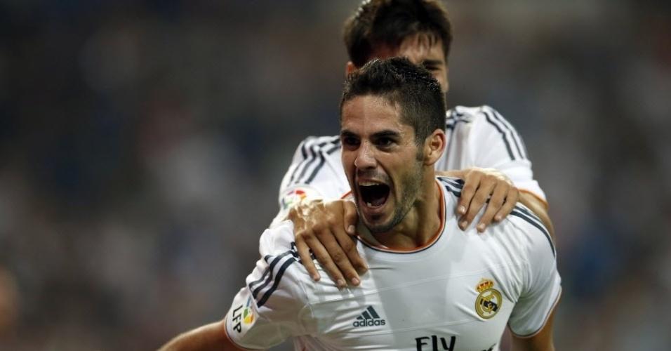 Isco comemora gol da vitória do Real Madrid contra o Betis