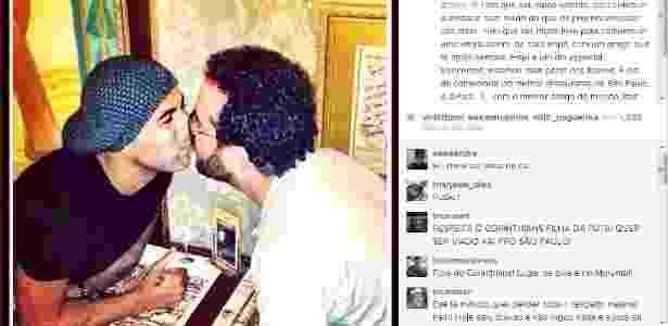Sheik beija amigo e posta foto no Instagram - Reprodução/Instagram/10emerson10