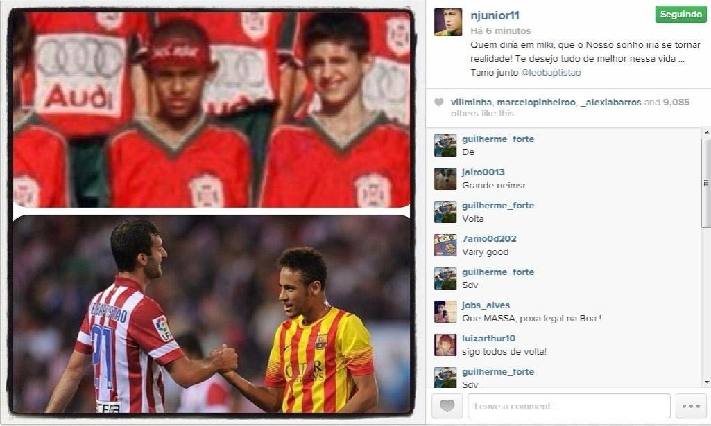Neymar comemora reencontro com amigo de infância em jogo do Barcelona -  Esporte - BOL 15589f9bfd891